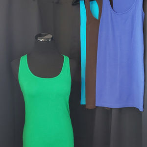 a.n.a. tank top, lot of 4